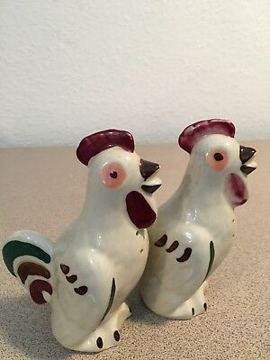 Vintage Salt & Pepper Shakers: Shawnee Chanticleer Roosters 5 inches tall