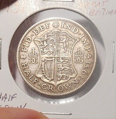 1931 Great Britian Half Crown......Free Combined Shipping  Lot 751
