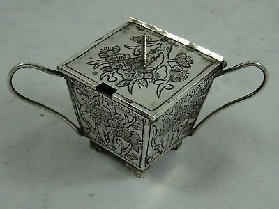 CHINESE EXPORT solid silver MUSTARD POT, c11900, 19gm