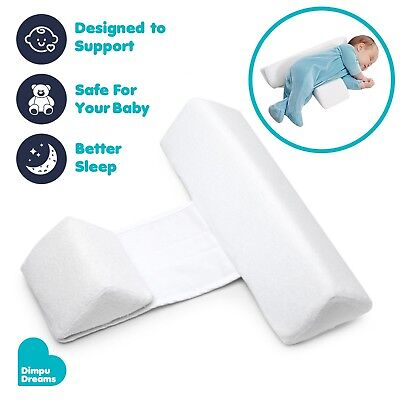 Baby Sleep Positioner Anti Roll Pillow Cot Bed Newborn Prevent Safe Head Cushion