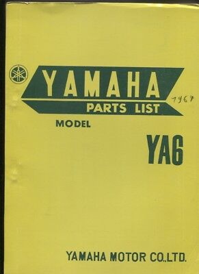 N°102 /  YAMAHA  YA 6   / parts list english text 1967