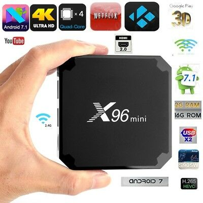X96 MINI Android 7.1 Nougat S905W 2GB RAM + 16GB  KODI TV BOX 4K IPTV  Smart TV