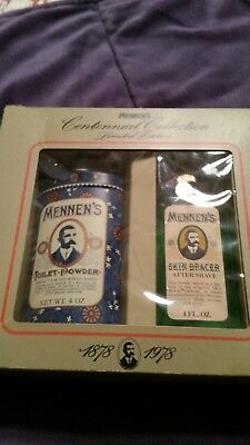 Mennen centennial collection limited edition talc and after shave 4 OZ each 1978
