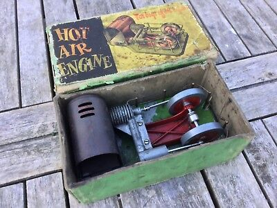 hot air engine,built by D.C on the Isle of Man vintage 1940s/50s very scarce.