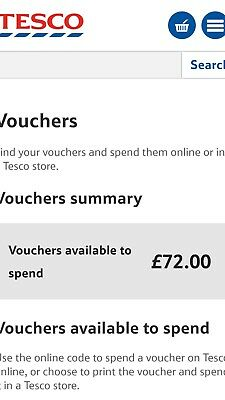 Tesco clubcard vouchers £72 worth up to £288