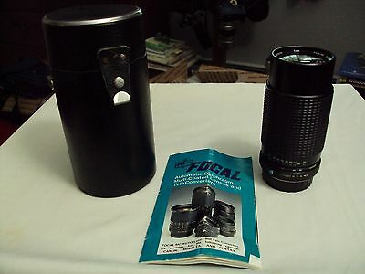 Focal MC Macro Auto Zoom 1:4.5 80-200mm 52mm Lens With Case