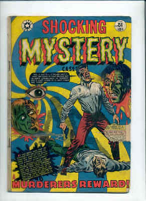 SHOCKING MYSTERY CASES 51 (Classic LB Cole pre-Code horror ! Only ebay copy !)