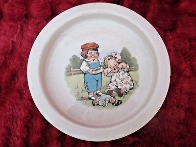 Vintage Antique Buffalo Pottery Baby/child's Dish, Dolly Dingle, Dolly Dimple