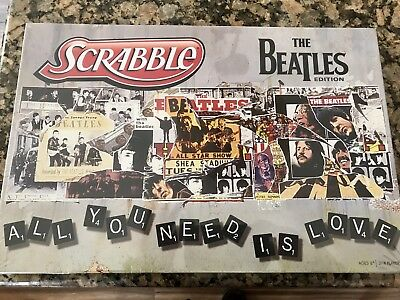 The Beatles Scrabble Game 2012 Sealed Mint