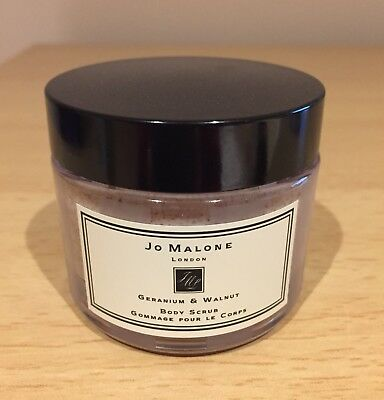 Jo Malone London Geranium & Walnut Body Scrub 50g Brand New