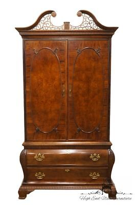 """CENTURY Mahogany Chippendale Style 48"""" Clothing Armoire"""