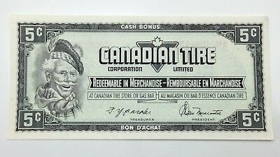 1974 Canadian Tire Money 5 Five Cents CTC-S4-B-AM Uncirculated Banknote E154