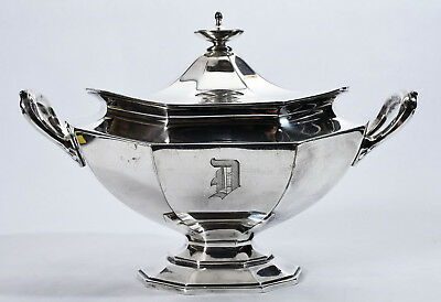 Antique Reed & Barton Silver Plated Sugar Bowl 3690 10 Half Pt dated Oct 10 1907