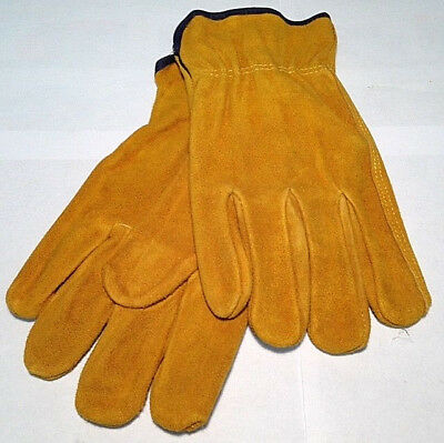 1-Pair Industrial Work Gloves Large 100% Leather Liberty Glove 8847-L NEW 13B2