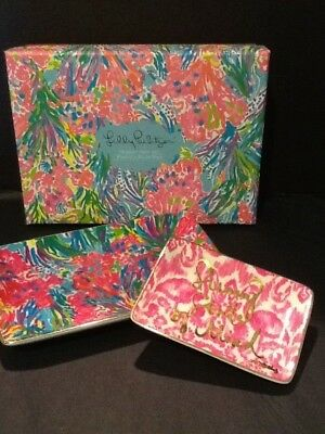 Lilly Pultizer trinket tray set, sunny state of mind, new in box, free shipping