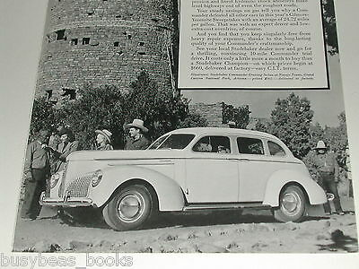 1940 Studebaker Commander ad, sedan, Navajo Tower