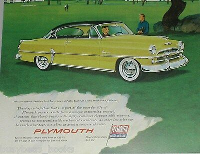 1954 Plymouth ad, Plymouth Belvedere, Pebble Beach CA