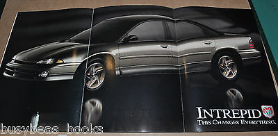 1993 DODGE INTREPID 12-page advertisement, Dodge Intrepid sedan, fold-out