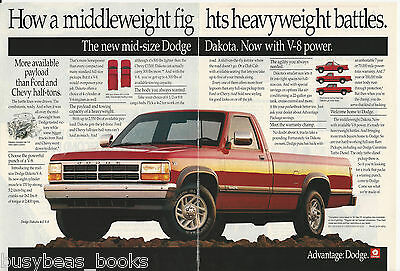 1991 DODGE DAKOTA Pickup 2-page advertisement, Dodge Dakota pickup