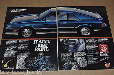 1983 Dodge SHELBY Charger 2-page advertisement, Carroll Shelby, big photo