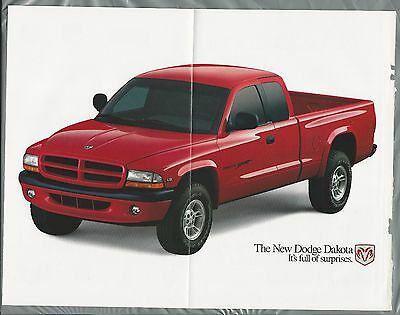 1997 DODGE DAKOTA Pickup 5-page advertisement, large red pickup Dakota ad