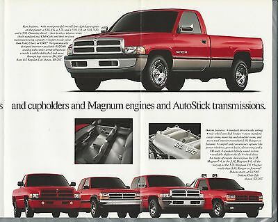 1996 DODGE 8-page advertisement, Dodge cars, trucks, Viper, Ram, Intrepid etc