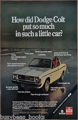 1975 DODGE COLT advertisement, Dodge Colt Carousel hardtop