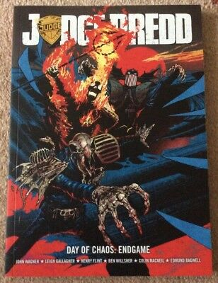 Judge Dredd Day Of Chaos Endgame 2000 AD John Wagner Paperback Book - New
