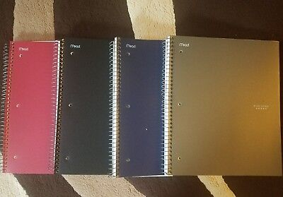 4 x new mead five star 1 subject quad quadrille graph paper notebook c