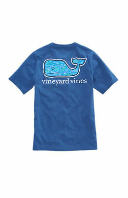 NWT Boy's Vineyard Vines Fish Scales Moonshine Whale T-Shirt Size M, L Or XL