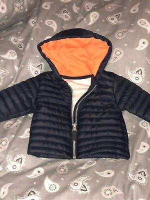 NEXT New Baby Boys Navy Coat Age 0-3 Months