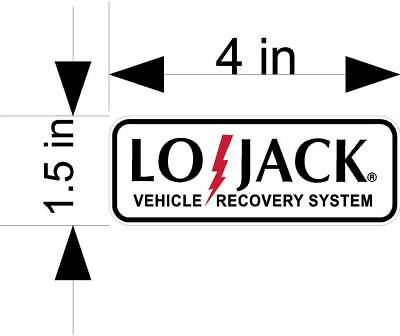 2ea. LO-JACK VEHICLE RECOVERY  auto security car & truck vehicle decals/stickers