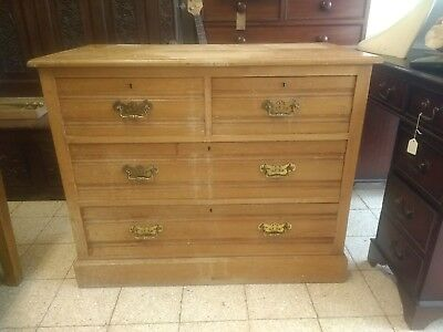 Edwardian antique chest of drawers in ash.