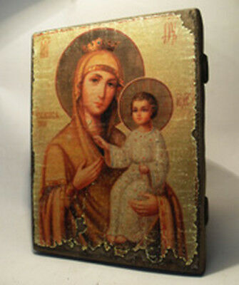 Handmade copy ancient ORTHODOX CHURCH ICON Mother of God the Deliverer 173L
