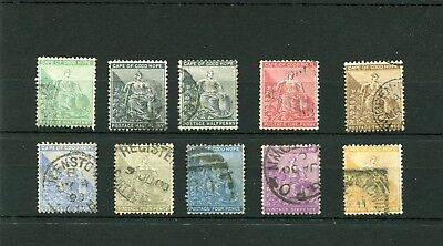 Cape Of Good Hope.10 -- Used Qv  Stamps On  Stockcard For Sorting