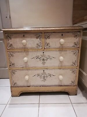 Antique Georgian original paint drawers dresser,