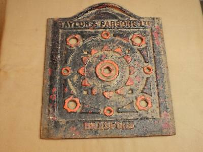 ANTIQUE CAST IRON COAL HOLE COVER / HATCH BY TAYLOR & PARSONS Ltd BRAD FORD