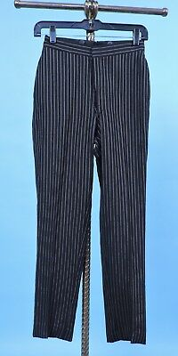 Young Man'S Teens Edwardian Pin Striped Mourning Suit Pants Size 24 Waist