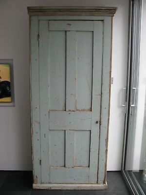 Victorian antique pine original painted wardrobe cupboard distressed shabby chic