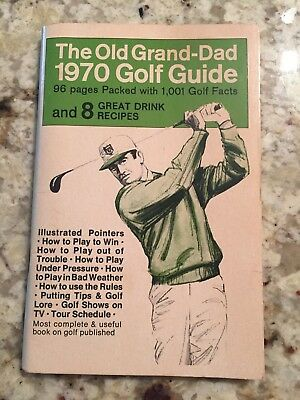 Vintage 1970 The Old Grand Dad Bourbon Golf Guide - Slightly Used