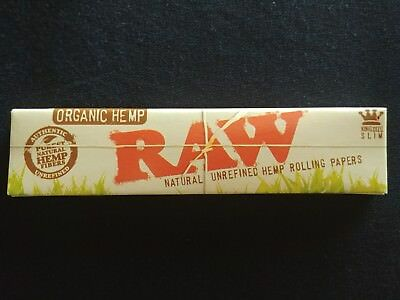 1 x Raw Organic Hemp King Size Slim Rolling Papers Natural Unrefined 110mm