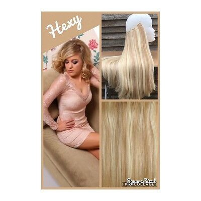100G In #18/613 Dark/light Blonde Secret Wire Human Hair Extensions Flip Halo