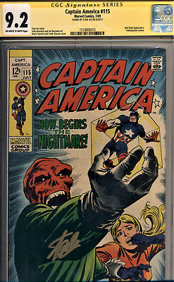 Captain America #115 Cgc 9.2 Ss By Stan Lee~The Red Skull~Yellowjacket Cameo!