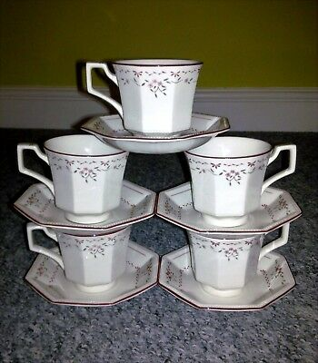 JOHNSON BROTHERS MADISON ~ SET of 5 CUPS with SAUCERS