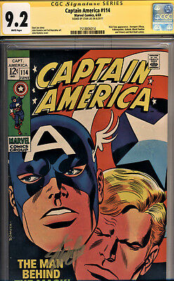 Captain America #114 Cgc 9.2 Ss By Stan Lee~Avengers, Black Panther, Red Skull!