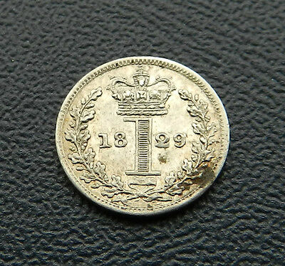 1829 George IV Maundy Penny FDC With Lustre Rare