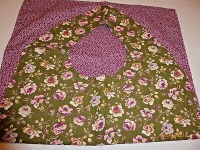 "Adult Bibs / cover-ups adults, seniors, disabled/ bibs; ""Cranberry/green flower"""