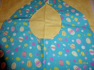 "Adult Bibs / cover-ups for adults, seniors, disabled/ bibs; ""Easter Eggs"""