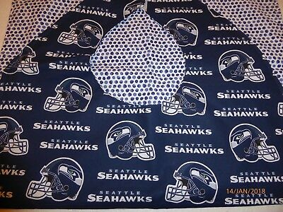 "Adult Bibs / cover-ups for adults, seniors, disabled/ bibs; ""Seattle Seahawk #3"""