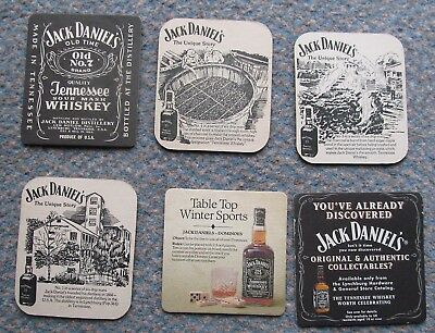 Collection 6 Jack Daniels Old No 7 Tennessee Whiskey advertising mats 1970's+